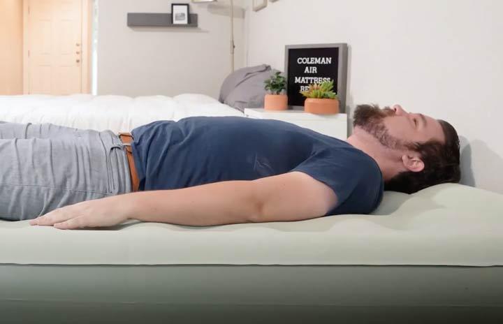 Coleman Air Mattress - Back Sleeping