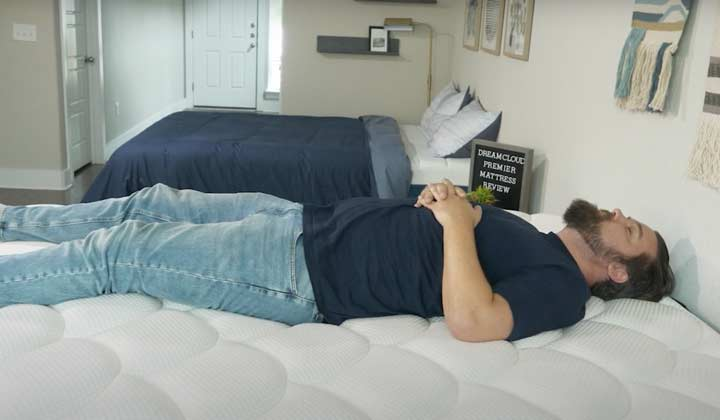 DreamCloud Premier - Back Sleeping