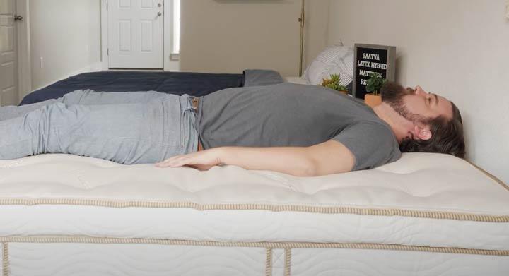 Saatva Latex Hybrid - Back Sleeping