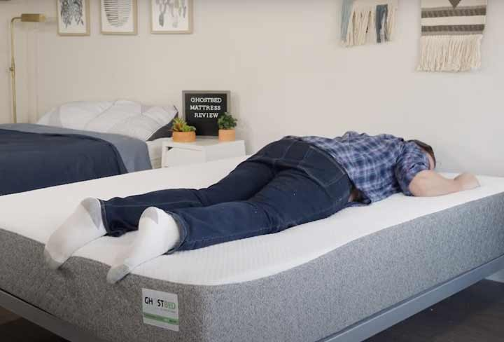 GhostBed Mattress - Stomach Sleeping