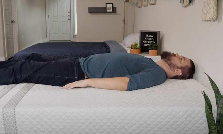 Leesa Hybrid - Back Sleeping