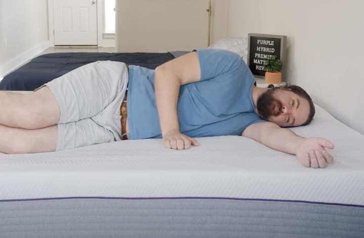 Purple Hybrid Premier - Side Sleeping
