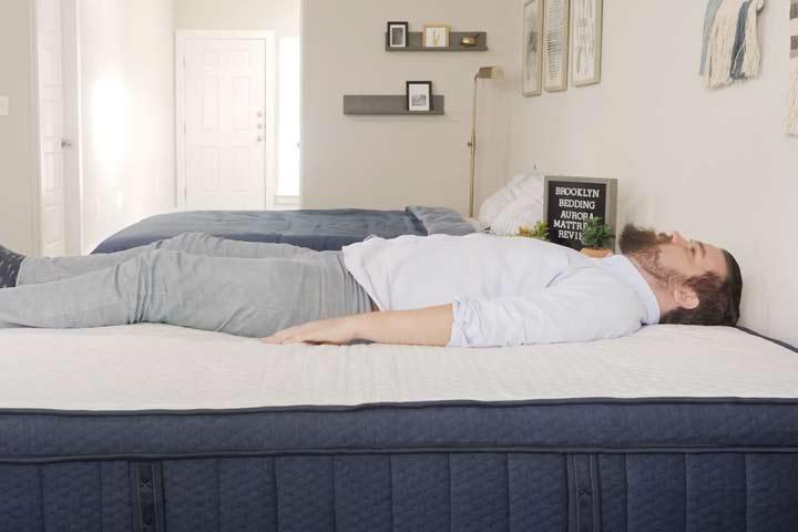 Brooklyn Bedding Aurora - Back Sleeping