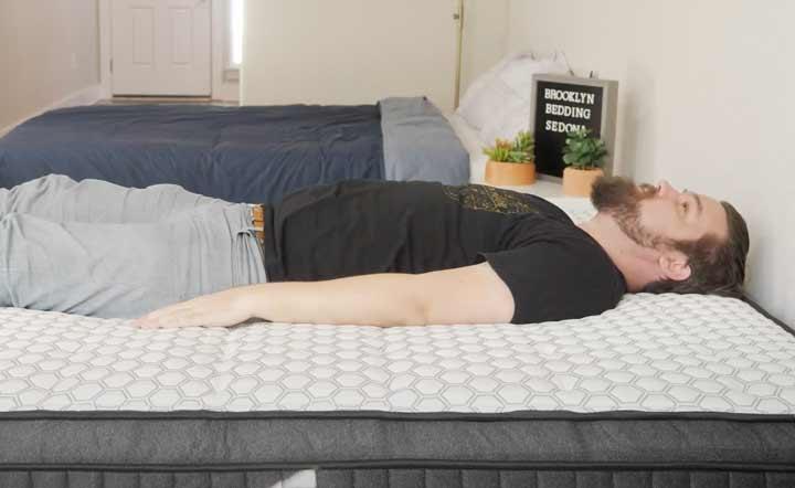 Brooklyn Bedding Sedona - Back Sleeping
