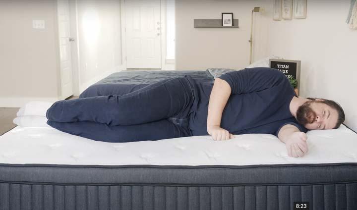 Titan Luxe Hybrid - Side Sleeping