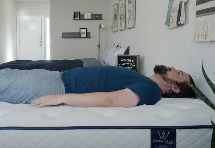 WinkBeds GravityLux - Back Sleeping
