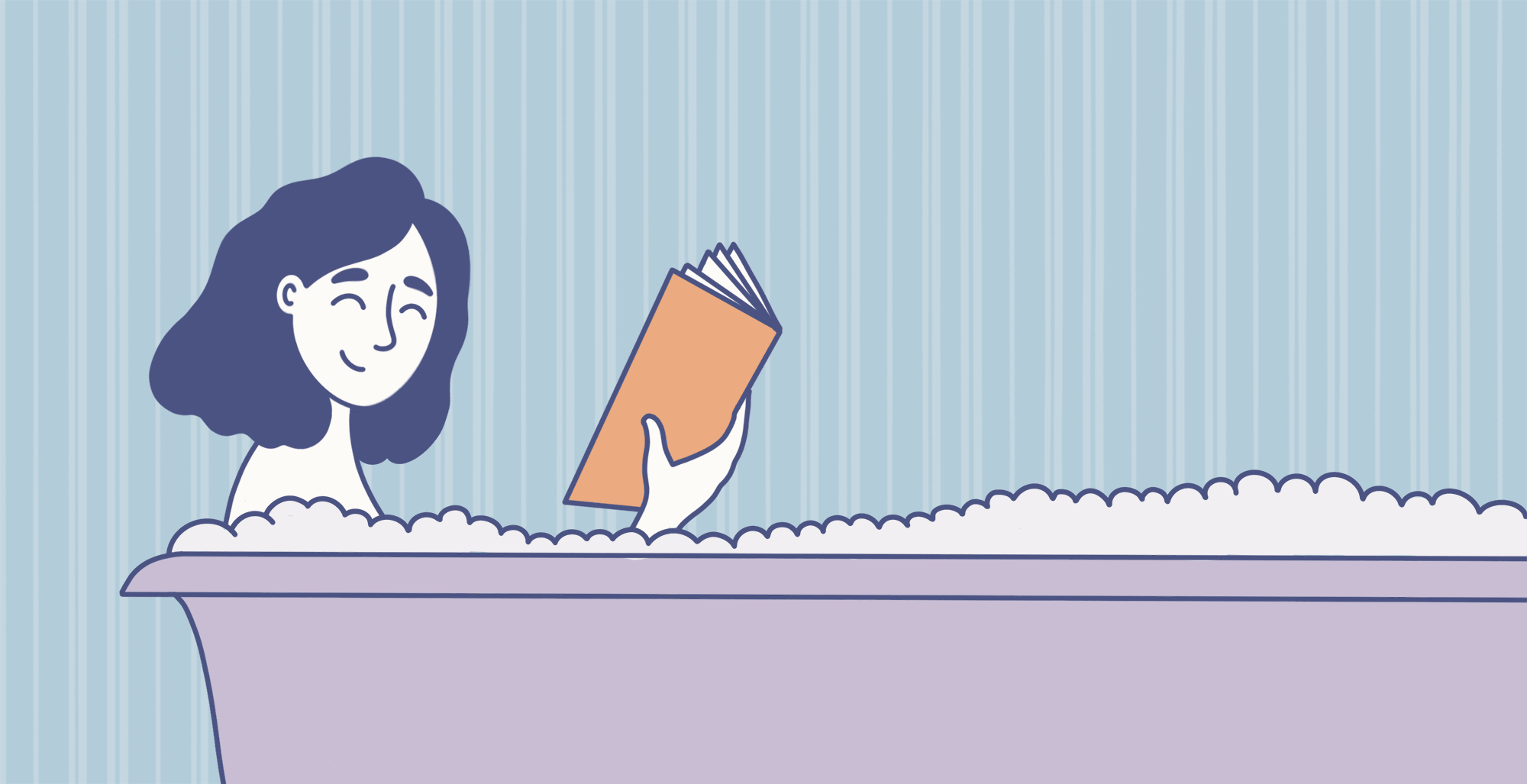 College Kid takes a bubble bath to soothe stress