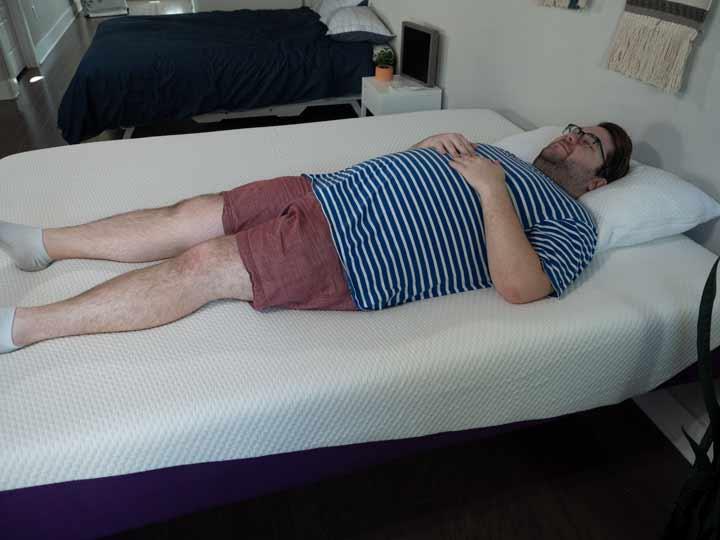 Zephyr Mattress - Back Sleeping Position